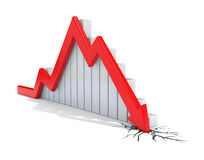 Red 3d arrow collapse stock illustration