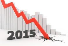 2015 Red 3D arrow crash Royalty Free Stock Photos