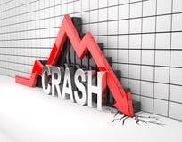 Red 3D arrow crash Stock Photo