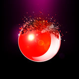 Red 3D ball exploded into pieces Royalty Free Stock Photography