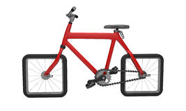 Red 3d bike Royalty Free Stock Photos