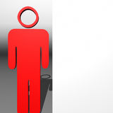 Red 3D character and white presentation Stock Images