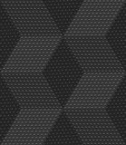 Red 3d cubes with embossed dots seamless pattern. Abstract 3d geometrical seamless background. Gray 3d cubes textured with embossed dots Stock Images