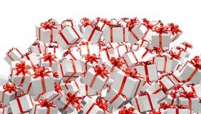Red 3d Gift box illustration Stock Image