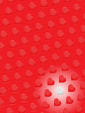 Red 3D hearts and one white on red background Royalty Free Stock Photos