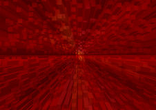 Red 3d l structure in dynamic perspective Royalty Free Stock Image