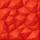 Red 3d polygon vector background, modern origami texture. Polygon pattern triangle, abstract geometric background pattern illustration Royalty Free Stock Photo