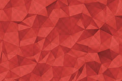 Red 3D Polygonal Surface render Stock Photography