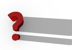 Red 3d question mark Stock Photos
