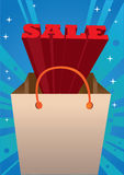 Red 3D Sale message Stock Images
