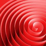 Red 3d spiral with soft shadows, abstract illustration Royalty Free Stock Image