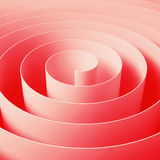 Red 3d spiral tape, abstract digital illustration Royalty Free Stock Photography