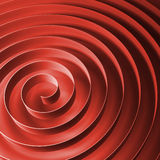 Red 3d spiral tape with soft shadows Royalty Free Stock Photos
