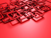 Red 3d Squeres Design Background. 3d render illustration Royalty Free Stock Image
