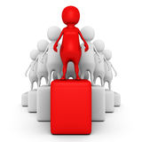 Red 3d team leader on the top. leadership concept Stock Image