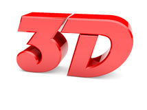 Red 3D Text stock photos
