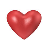 Red 3d valentine heart Royalty Free Stock Images