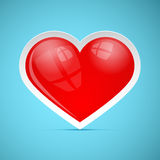 Red 3d Vector Retro Heart Stock Image