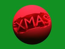 Red 3D Xmas ball Stock Images