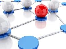 red 3d y comunicación sociales Foto de archivo libre de regalías
