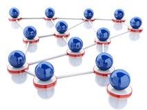 red 3d y comunicación sociales Imagen de archivo
