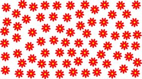 Red Daisies Royalty Free Stock Photography