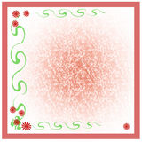 Red daisy scrapbook Stock Images