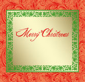 Red Damask Christmas Copy Space Stock Photos