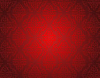 Red damask pattern seamless Royalty Free Stock Photos
