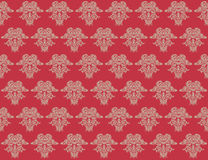 Red Damask Pattern Stock Image