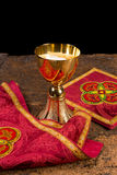 Chalice with vestment set Royalty Free Stock Images