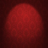 Red damask wallpaper Royalty Free Stock Photo