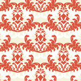 Red damask wallpaper Stock Photos