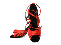Red dancing shoes Stock Photography