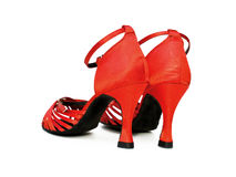 Red dancing shoes Royalty Free Stock Photos