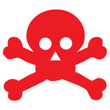 Red danger scull icon. Vector illustration of red danger scull icon Royalty Free Stock Photos