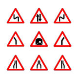 Red Dangerous signs stock illustration
