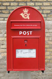 Red danish letter-box Stock Images