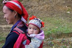 Red Dao Ehtnic Minority People of Vietnam Stock Images