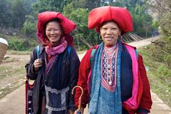 Red Dao Ehtnic Minority People of Vietnam Royalty Free Stock Photo