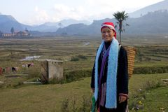 Red Dao Ehtnic Minority People of Vietnam stock photo