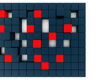 Red and dark blue cubes Royalty Free Stock Images