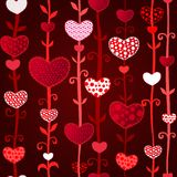 Red Dark Love Valentin's Day Seamless Pattern Royalty Free Stock Photography