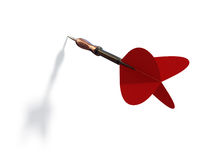 Red dart. With shadow on white background stock illustration