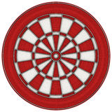 Red Dart board. Red and white dart board stock illustration