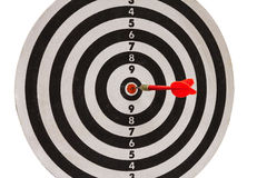 Red dart on dartboard Royalty Free Stock Photography