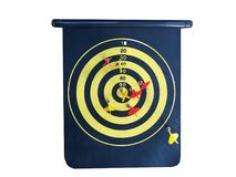 Red dart In a dartboard. On white background Stock Images