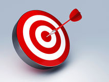 Red Dart Hitting The Target Stock Photography