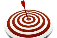 Red dart target Stock Photos