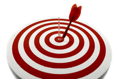 Red dart target. With red arrows  Close up Royalty Free Stock Photography
